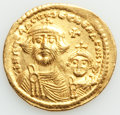 Ancients:Byzantine, Ancients: Heraclius (AD 610-641) and Heraclius Constantine. AV solidus (21mm, 4.43 gm, 7h). VF, wavy flan....