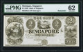 Obsoletes By State:Michigan, Singapore, MI- Bank of Singapore $2 18__ Remainder PMG Uncirculated 62.. ...