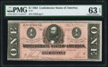 Confederate Notes:1864 Issues, T71 $1 1864 PF-1 Cr. 576 PMG Choice Uncirculated 63 EPQ.. ...
