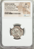 Ancients:Roman Imperial, Ancients: Probus (AD 276-282). BI antoninianus (22mm, 4.10 gm, 6h).NGC MS 5/5 - 4/5, Silvering....