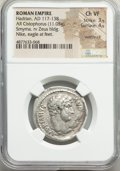 Ancients:Roman Imperial, Ancients: Hadrian (AD 117-138). AR cistophorus (27mm, 11.05 gm,1h). NGC Choice VF 3/5 - 4/5, overstruck....