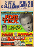 Music Memorabilia:Posters, Joe Tex / Percy Sledge Large, Colorful 1968 Globe Concert Poster.. ...