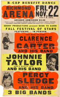 Clarence Carter / Johnnie Taylor / Percy Sledge Jumbo Globe Concert Poster (1968)