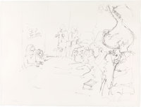 "John Lennon Signed ""Bed Peace"" Lithograph (1969-1970)"
