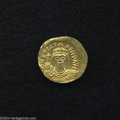 Ancients:Byzantine, Ancients: Phocas. A.D. 602-610. AV solidus (21 mm, 4.45 g).Constantinople, A.D. 607-610. Crowned facing bust, holding cross /Angel s...