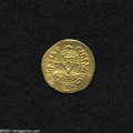 Ancients:Byzantine, Ancients: Phocas. A.D. 602-610. AV solidus (20 mm, 4.46 g).Constantinople, A.D. 607-610. Crowned facing bust, holding cross /Angel s...