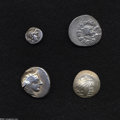 Ancients:Greek, Ancients: Lot of four miscellaneous Greek AR. Includes: EasternCelts. Imitating Philip II. Tetradrachm. Good VF // Attica, Athens.Te... (Total: 4 coins Item)
