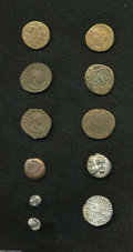 Ancients:Greek, Ancients: Lot of eleven miscellaneous coins. Includes: Moesia,Istros. AR drachm // Pontos, Amisos. AE (4) // Ionia, Miletos. AR1/12t... (Total: 11 coins Item)