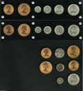 Australia: , Australia: A lot of 1960 and 1961 Proof Sets including: 1960 six-piece Melbourne and Perth set, all are bright and Choice; (2) 1961 six... (Total: 20 coins Item)