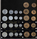 Australia: , Australia: Modern Proof Sets as follows: 1962 six-piece Melbourneand Perth set, all coins are bright and Choice; 1963 six-pieceMelbou... (Total: 26 coins Item)