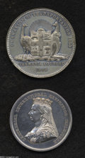 Australia: , Australia: A pair of medals as follows: Cessation of Transportation medal in white metal 1853, Bust of Queen Victoria left, VICTORIA QU... (Total: 2 medals Item)