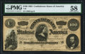 Confederate Notes:1864 Issues, T65 $100 1864 PF-3 Cr. 494 PMG Choice About Uncirculated 58.. ...