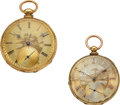 Timepieces:Pocket (pre 1900) , Tobias & Ch. Oudin Signed Ornate 18k Gold Key Winds. ... (Total: 2 Items)