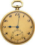 Timepieces:Pocket (post 1900), Haas Neveux & Co. 14k Gold Watch. ...