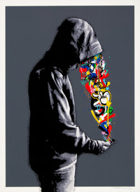 Martin Whatson (Norwegian, b. 1984) Connection, 2018 Screenprint in colors on Somerset paper 29-1