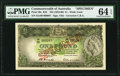 Australia Commonwealth Bank of Australia 1 Pound ND (1953-60) Pick 30s R33 Specimen PMG Choice Uncirculated 64 EPQ