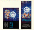 "Movie Posters:Science Fiction, Return of the Jedi (20th Century Fox, R-1985). Rolled, Very Fine-.Printer's Proof of Insert and Half Sheet (42.5"" X ..."