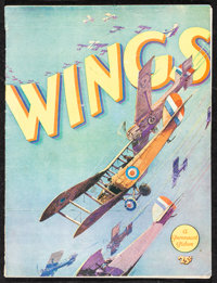 """Wings (Paramount, 1927). Fine/Very Fine. Program (20 Pages, 9"""" X 12""""). Academy Award Winners"""