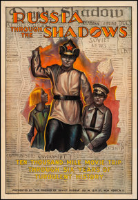"Russia Through the Shadows (The Friends of Soviet Russia, 1922). Fine/Very Fine on Linen. One Sheet (28"" X 41""..."