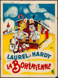 """Movie Posters:Comedy, The Bohemian Girl (Les Films VOG, R-1940s). Folded, Fine/Very Fine. French Moyenne (23.5"""" X 31.5""""). Comedy.. ..."""
