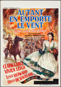 "Movie Posters:Academy Award Winners, Gone with the Wind (MGM, 1939). Rolled, Fine+. Pre-War Belgian (23.5"" X 33.25"") M. DeMill Artwork. Academy Award Winners.. ..."