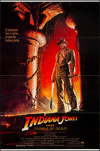 "Indiana Jones and the Temple of Doom (Paramount, 1984). Flat Folded, Very Fine-. One Sheet (27"" X 41"") &am..."