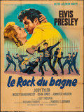 "Movie Posters:Elvis Presley, Jailhouse Rock (MGM, 1957). Very Good/Fine on Kraft Paper. FrenchGrande (46.75"" X 62.75""). Roger Soubie Artwork. Elvis Pres..."
