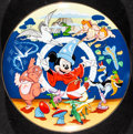 "Movie Posters:Animation, Fantasia (Schmid, 1990). Mint. 50th Anniversary Hand Numbered Porcelain Plate (10.25"" Diameter). Animation.. ..."