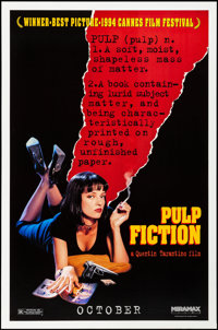 "Pulp Fiction (Miramax, 1994). Rolled, Very Fine+. One Sheet (27"" X 41"") SS, Advance. Crime"