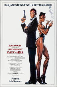"""A View to a Kill (United Artists, 1985). Rolled, Very Fine/Near Mint. One Sheet (27"""" X 41"""") SS Advance. Dan Go..."""