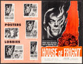 "Movie Posters:Horror, House of Fright & Other Lot (American International, 1961). Very Fine. Uncut Pressbooks (2) (Multiple Pages, 11"" X 17"") & Cu... (Total: 3 Items)"