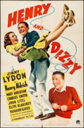 Movie Posters:Comedy, Henry and Dizzy & Other Lot (Paramount, 1942). Folded, Fin...