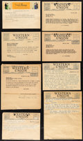 "Movie Posters:Miscellaneous, Gary Cooper Lot (1941-1945). Folded, Very Fine-. Telegrams (13) (8"" X 5.75"" - 8"" X 11"") & Letter (8.5"" X 11""). Miscellaneous... (Total: 14 Items)"