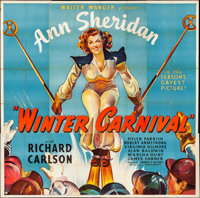 "Winter Carnival (United Artists, 1939). Folded, Fine+. Six Sheet (79"" X 79""). Romance"