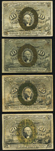 Fractional Currency:Second Issue, Second Issue Notes Four Examples Fine.. ... (Total: 4 notes)