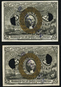 Milton 2E25F.6 25¢ Second Issue Experimentals Two Examples. ... (Total: 2 notes)