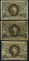Fractional Currency:Second Issue, 5¢ Second Issue Three Examples Very Fine.. ... (Total: 3 notes)