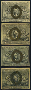 Fractional Currency:Second Issue, 25¢ Second Issue Notes Four Examples.. ... (Total: 4 notes)