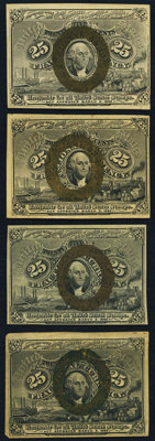 25¢ Second Issue Notes Four Examples. ... (Total: 4 notes)