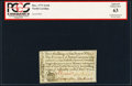 Colonial Notes:North Carolina, North Carolina December, 1771 2s6d House PCGS Apparent Choice New 63.. ...