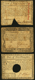 Colonial Notes:Mixed Colonies, Maryland August 14, 1776 $6 Very Good;Massa...