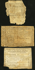 Colonial Notes:Mixed Colonies, Connecticut June 19, 1776 1s 6d Fair;. North Carolina May 10, 1780$25 Quid Non Virtute Efficiendum Very Good;. Pennsy... (Total: 3notes)