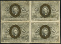 Fractional Currency:Second Issue, Fr. 1245 10¢ Second Issue Block of Four Very Fine.. ...