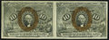 Fractional Currency:Second Issue, Fr. 1245 10¢ Second Issue Horizontal Pair Extremely Fine.. ...