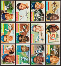 1956 Topps Baseball Near Set (328/340) With One Checklist Card