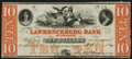 Obsoletes By State:Tennessee, Lawrenceburg, TN - Lawrenceburg Bank of Tennessee $10 Dec. 1, 1864 About Uncirculated.. ...