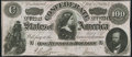"Confederate Notes:1864 Issues, CT65 ""Havana"" Counterfeit $100 1864 Choice About Uncirculated.. ..."