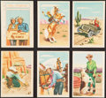 "Non-Sport Cards:Lots, 1952 Post Cereal ""Roy Rogers Popout Cards"" Collection (32). ..."