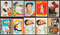 Baseball Cards:Lots, 1956-68 Topps Baseball Stars & HoFers Collection (10)....