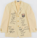 Autographs:Jerseys, Pro Football Hall of Fame Multi-Signed Enshrinee Blazer (21 Signatures)....